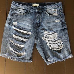 Forever21 ripped jeans shorts